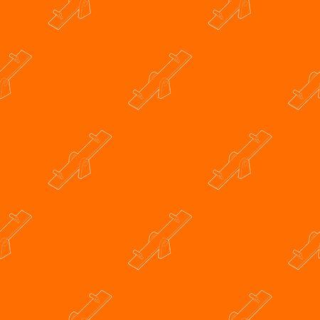 Seesaw pattern vector orange for any web design best