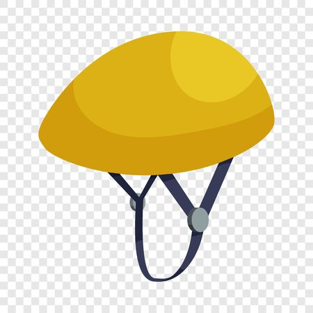 Bicycle protective helmet icon. Isometric illustration of helmet vector icon for web design
