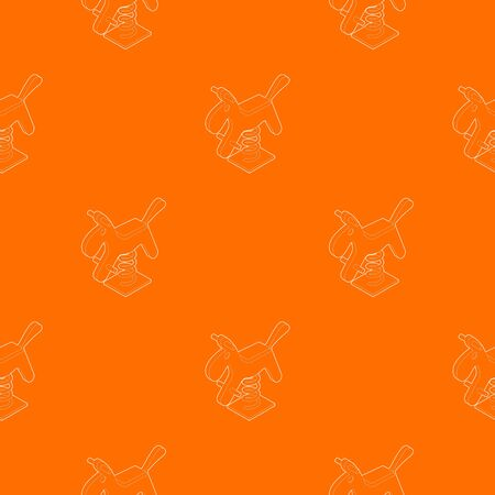 Horse spring see saw pattern vector orange for any web design best Stock Illustratie