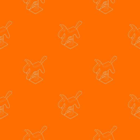 Horse spring see saw pattern vector orange for any web design best Illustration