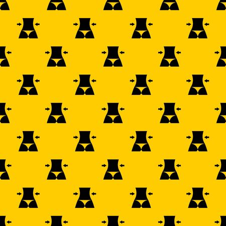 Slim body of a woman pattern seamless vector repeat geometric yellow for any design  イラスト・ベクター素材