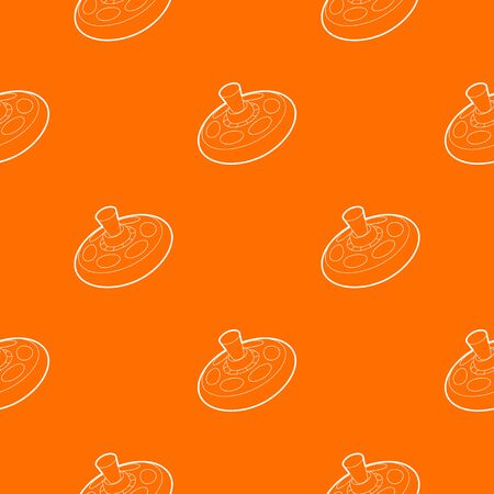 Toy pattern vector orange for any web design best