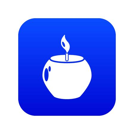 Candle spa icon. Simple illustration of candle spa vector icon for web