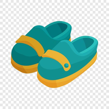 Pair of blue moccasins icon. Cartoon illustration of pair of moccasins vector icon for web