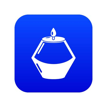 Candle aromatic icon. Simple illustration of candle aromatic vector icon for web Ilustração