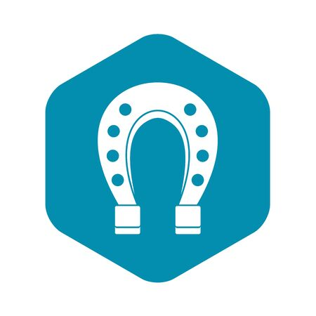 Horse shoe icon. Simple illustration of horse shoe vector icon for web