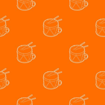 Toy drum pattern vector orange for any web design best Illustration