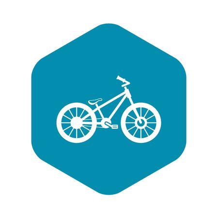 Bike icon. Simple illustration of bike vector icon for web Vector Illustration