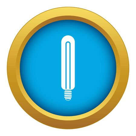 Tubular bulb icon blue vector isolated on white background for any design
