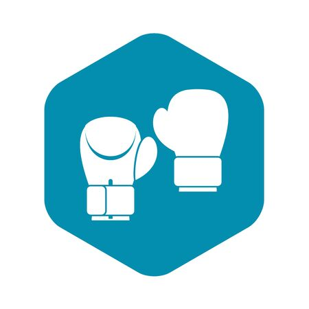 Boxing gloves icon. Simple illustration of boxing gloves vector icon for web