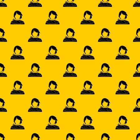 Male shorn pattern seamless vector repeat geometric yellow for any design