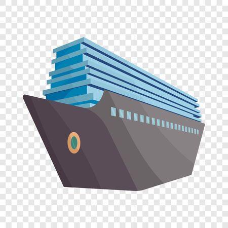 Cruise ship icon. Cartoon illustration of cruise ship vector icon for web