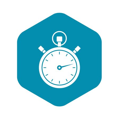 Stopwatch icon. Simple illustration of stopwatch vector icon for web Banque d'images - 130251304