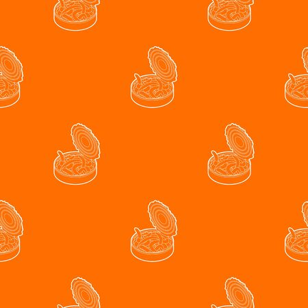 Tin of earthworms pattern vector orange for any web design best Çizim