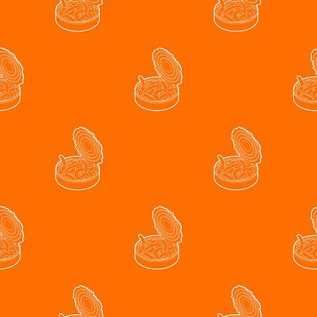 Tin of earthworms pattern vector orange for any web design best Иллюстрация