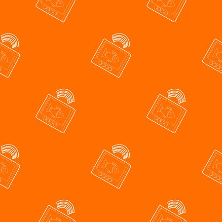 Echo sounder pattern vector orange for any web design best
