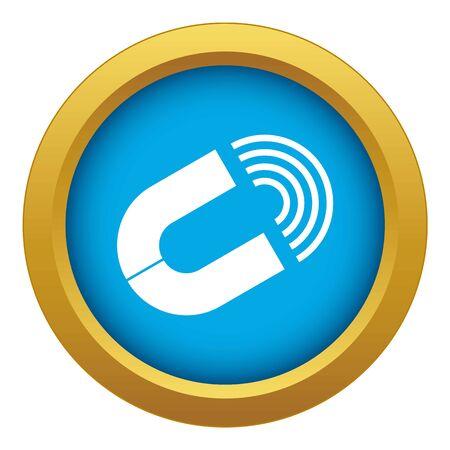 Horseshoe magnet icon blue vector isolated on white background for any design 向量圖像