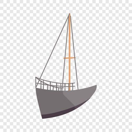 Sailing ship icon. Cartoon illustration of ship vector icon for web