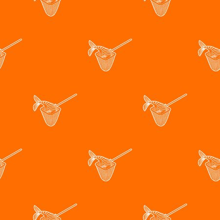 Fishing net pattern vector orange for any web design best Çizim
