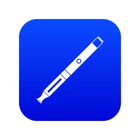 Electronic cigarette icon digital blue for any design isolated on white illustration Reklamní fotografie