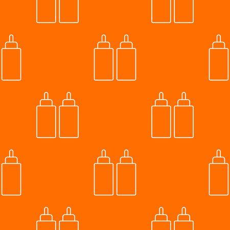 Ketchup mustard squeeze bottle pattern orange Stockfoto