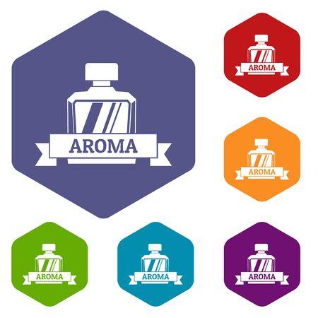 Aroma icons hexahedron