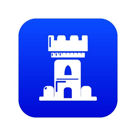 Castle tower icon blue