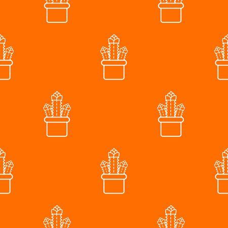 Three cactus pattern orange