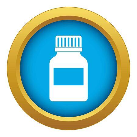 Medicine bottle icon blue isolated
