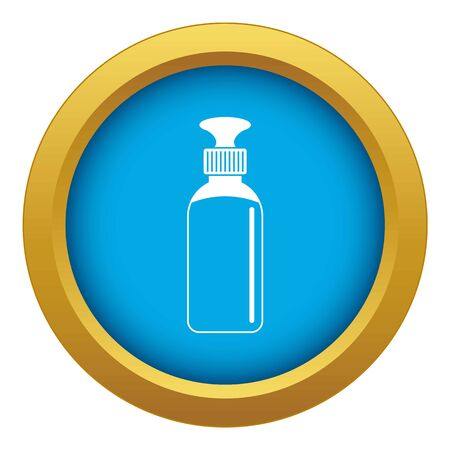 Closed vial icon blue isolated