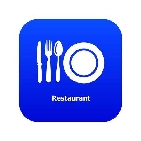 Restaurant icon blue