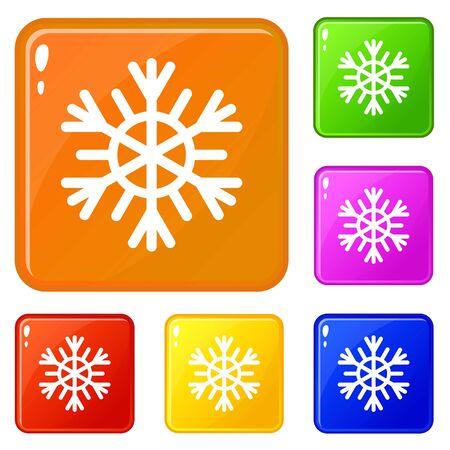 Snowflake icons set color