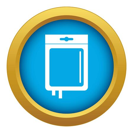Blood transfusion icon blue isolated Banco de Imagens