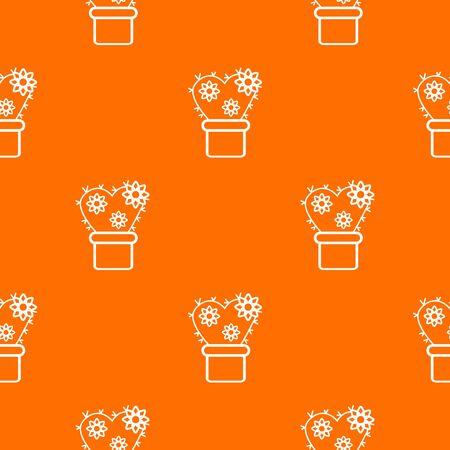 Heart cactus pattern orange