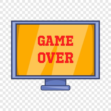 Game over screen icon, cartoon style