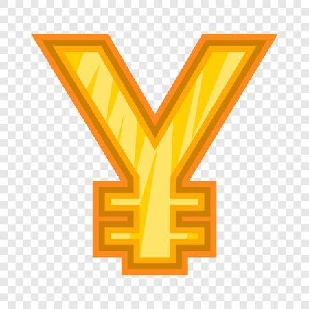 Japanese yen icon, cartoon style
