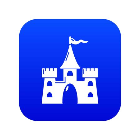 Castle building icon blue Foto de archivo - 127170792