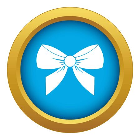 Bow icon blue isolated