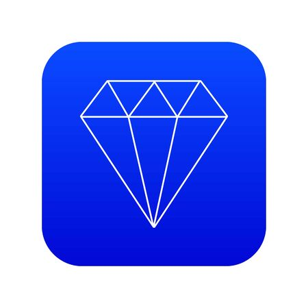 Diamond icon blue Stock Photo