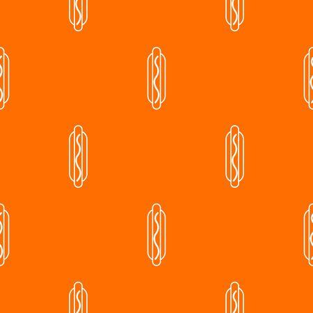 Hot dog pattern orange