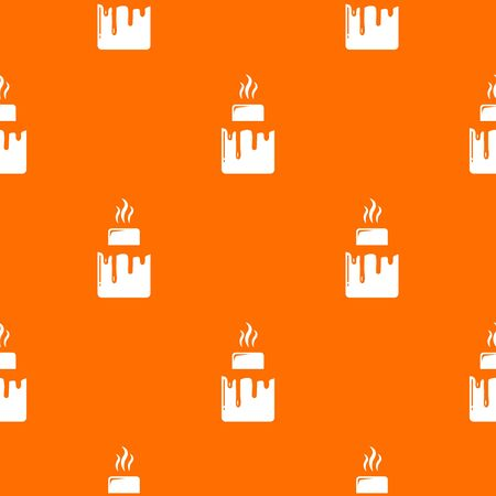 Empanadas pattern orange