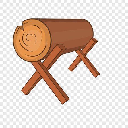 Log stand icon. Cartoon illustration of log icon for web design Reklamní fotografie