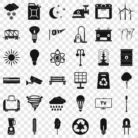 Agriculture icons set. Simple style of 36 agriculture icons for web for any design