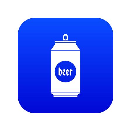 Beer in aluminum cans icon digital blue for any design isolated on white illustration Stock Photo