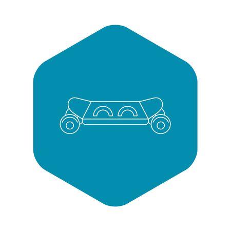 Skateboard icon. Outline illustration of skateboard icon for web