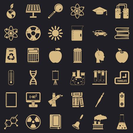 School education icons set. Simple style of 36 school education icons for web for any design