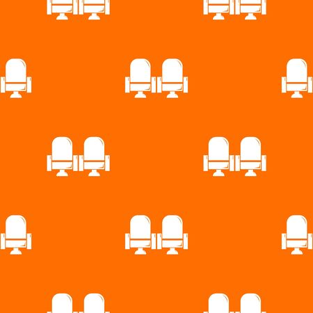 Seat theater pattern orange for any web design best