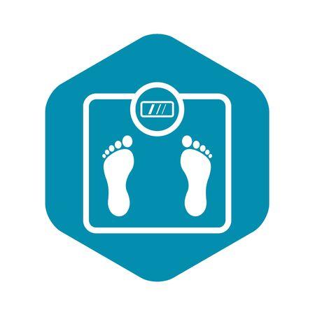 Floor scales icon. Simple illustration of floor scales vector icon for web Vector Illustration