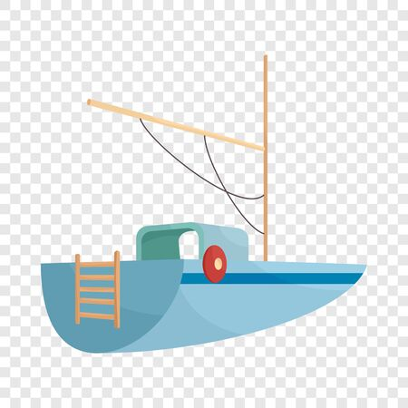Boat icon. Cartoon illustration of boat vector icon for web