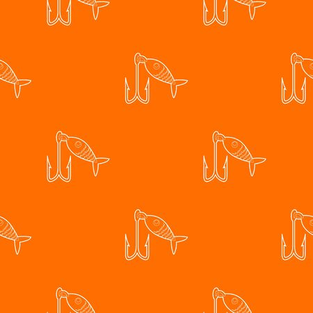 Fishing lure pattern vector orange for any web design best